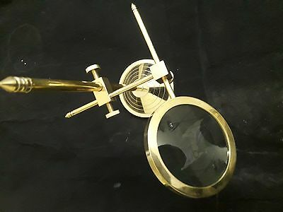 Solid Brass Desktop Magnifying Glass Vintage Adjustable Stand Magnifier Gift,mag