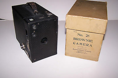Kodak Brownie No. 2A Camera  With Box -  looks to be 1918 or 1920 model