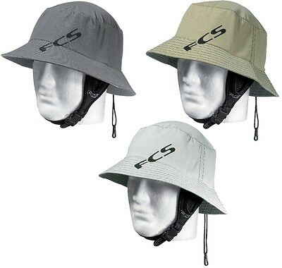 FCS Wet Bucket Indo Surf Hat NEW Sand Grey or light Surfing SUP