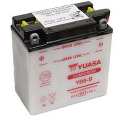 Yuasa Yb9-B 12V Maintenance Motorcycle Scooter Moped Battery With Acid Pack