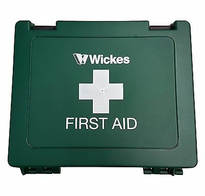Wickes Empty Green First Aid Box - Medium - Heavy Duty, Hinged, High Quality