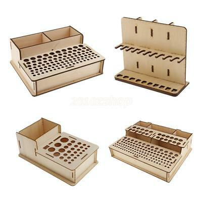 Wooden Leathercraft Stamp Punch Tools Rack Stand Home Tools Holder Organizer Box