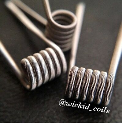 2 Mad Rabbit 26g Low Resistance Competition Wire Fused Claptons + Free Coils!