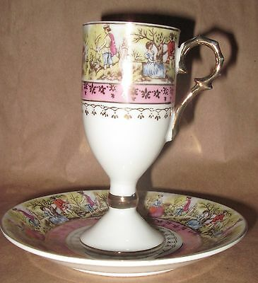 Royal Vienna Gilded Demitasse Cup & Saucer W/Beehive Mark
