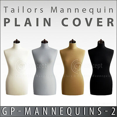 New Stretchy Cover For Female Tailors Mannequin Dummy Torso 4 Plain Colors