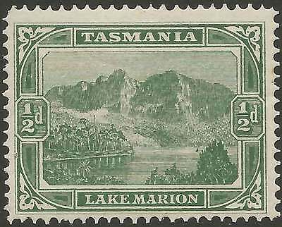 TASMANIA 1899-1912 Pictorial 1/2d Green ACSC34 lightly hinged mint