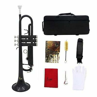 Nice Bb Flat Durableass Trumpet Silver-Plated Mouthpiece Gloves Strap SY