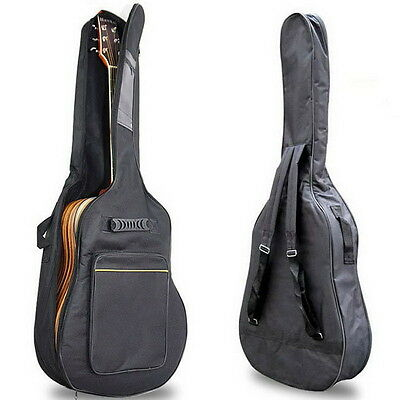 """41"""" Guitar Bag Case Acoustic Electric Bass Standard Or Padded Black 5Mm Sy"""