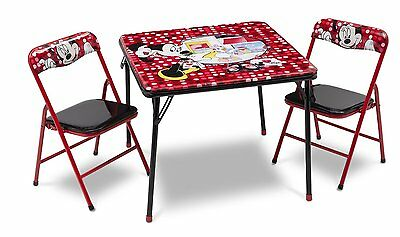 Minnie Mouse Folding Table and Chairs Set, Kids Playroom Furniture, Disney
