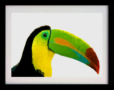 Toucan Bird A3 Poster Wall Art Deco Animal Print - Limited Edition Of 100