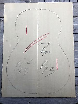 European spruce acoustic guitar bookmatched tops / sound boards GRADE A and B