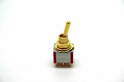 Mini Gold Toggle Switch Dpdt On-On For Phase Switching And Coil Tapping