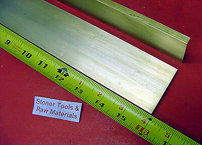 "2 Pieces 1/4"" x 2"" C360 BRASS FLAT BAR 16"" long Solid .25"" Plate Mill Stock H02"