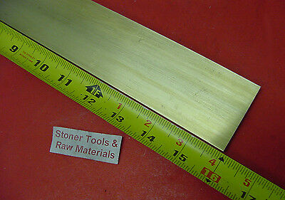 "1/4"" x 2"" C360 BRASS FLAT BAR 16"" long Solid .250"" Plate Mill Stock H02"