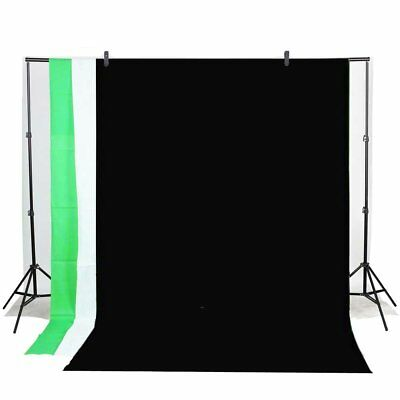 Kit pour Photo Studio Trépied Support de Fond+3 Tissus de Fond + 2 clips