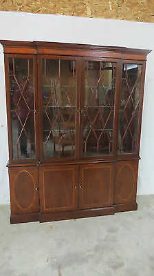 Baker China Cabinet Breakfront Mahogany Historic  Charleston