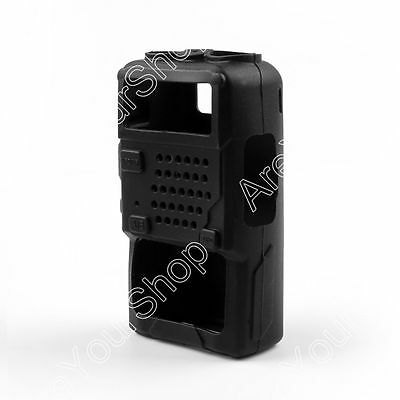 1x Rubber Soft Handheld Case Holster Fit BaoFeng UV-5R/5RA/5RE Plus Radio BLK US