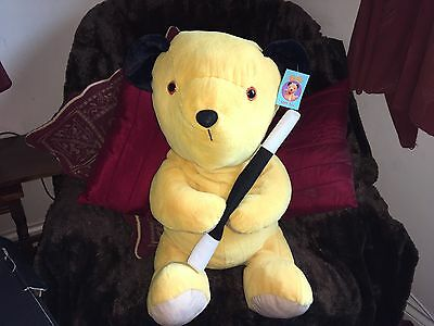 """Rare Htf Large 24"""" Sooty Soft Toy Plush With Tags Vgcc Sweep Sue"""