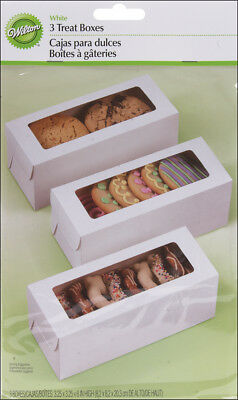 "Treat Boxes White 8""X3.25""X3.25"" 3/Pkg W4151433"