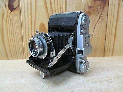 Vintage Zenobia Folding Film camera w/ Lens 1:3.5/75mm 83870 Daiichi Opt