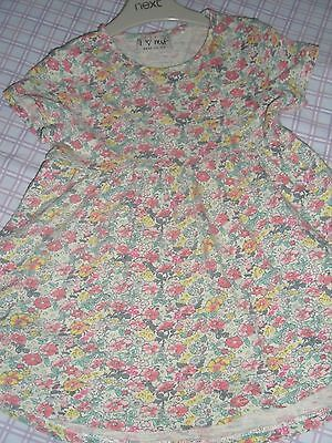 Baby Girls Next 2016 Spring Floral Tunic Top / Short Dress Size 18-24 Months