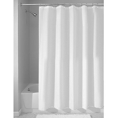 InterDesign Mildew-Free Water-Repellent Fabric Shower Curtain 72-Inch by 72-I...
