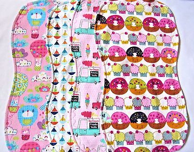 Baby Burp Cloths Contoured Double Flannel Soft And Absorbent Large Handmade