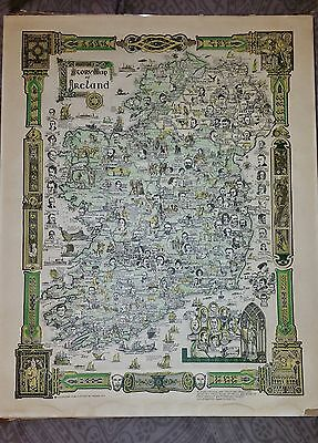 Story Map of Ireland Colortext Publications Pictorial Map Ireland 1935