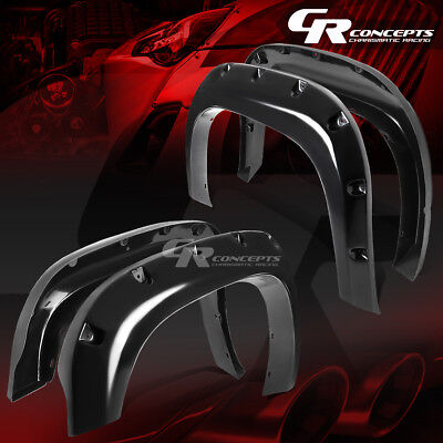 Front+Rear Matte Abs Side Fender Wheel Flares/covers For 07-13 Sivlerao 1500