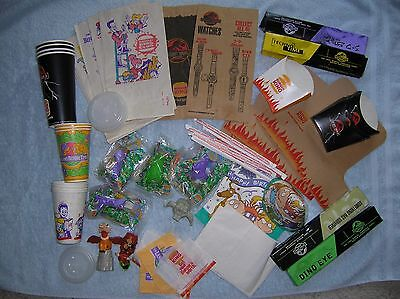 Large Collection Burger King, (4) Watches, Unopened Toys, Paper Products Etc