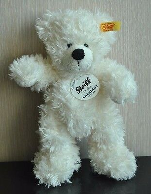 NEW !!! STEIFF LOTTE Teddy Bear 673351 White Plush 7.5'' with Button and Tag
