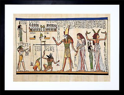 Ancient Egyptian Hieroglyphics Horus Thoth Anubis Mural Frame Art Print F12X652