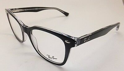 Ray Ban RB 5285 2034 Black Clear Woman Eyeglasses Square BE20/21