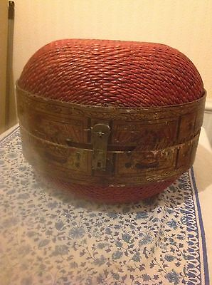 Antique Chinese Primitive Willow Food Rice Basket