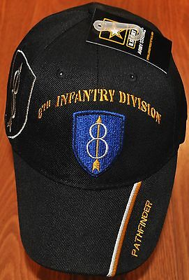 New Eighth 8th Infantry Division US Army Hat Ball Cap Pathfinder Golden Arrow