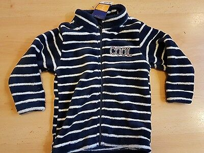 BNWT boys blue super soft fleece jacket jumper age 12- 24 months 1-2 years