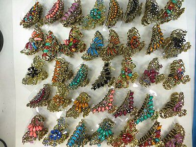 US Seller-wholesale lot 12 retro hair claws clips with imitation gemstone