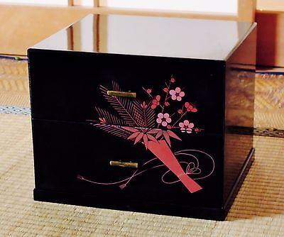 Japanese Wooden Lacquer ware Accessories Case Box