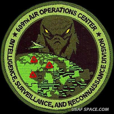 USAF 609th AIR OPERATIONS CENTER-INTELLIGENCE-SURVEILLANCE- RECONNAISSANCE PATCH