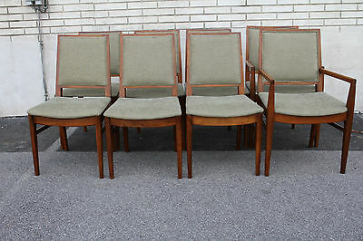Outstanding John Stuart Modern Teak Wood Dining Room Chairs
