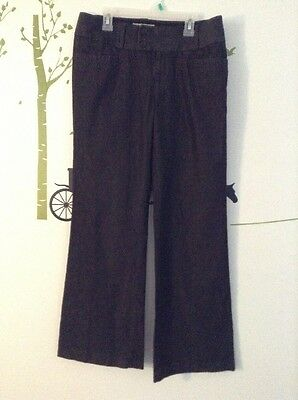 Banana Republic Women's Size 8 Martin Fit Stretch Trouser Cotton Pants Bootcut