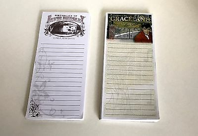 Elvis Presley Magnetic Notepads x 2, From Graceland & Tupelo, NEW!