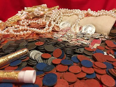 ✯ Estate Lot Old Us Coins $ ✯ Gold ✯..999 Silver ✯ Copper ✯ Pearls ✯Wwii✯ Sale ✯