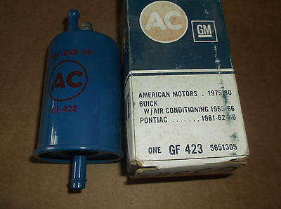 Rare 1963-1966 NOS Buick Original BLUE AC Fuel Filter W/ Air GF423 GM #5651305