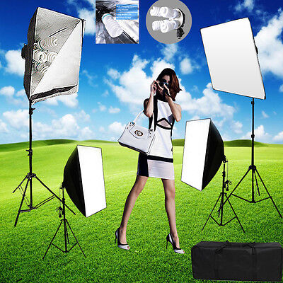 +3750w Softbox Studio Continuous Lighting Photography Soft Box Light Stand Kit+