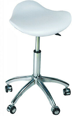 Salon Adjustable Chair/Stool White - Australian Seller