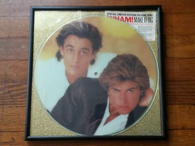 WHAM - GEORGE MICHEAL Make It Big - Limited Edition Vinyl Picture Disc FRAMED