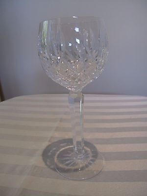 "Waterford 1 Only Stemmed Hock Glass ""lismore"" Design"