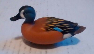 NIB 2007 Ducks Unlimited Jett Brunet Blue Wing Teal Miniature Decoy