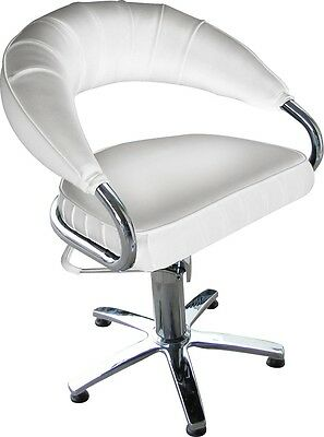Beauty Salon Client Chair With Gas Lift System - White